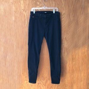 Hudson Nico mid rise super skinny jeans, Midnight